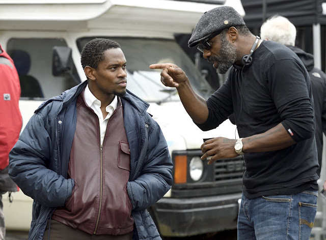 First Look Yardi Idris Elba on set with Aml Ameen