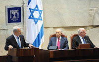 Israeli PM Netanyahu speaking before the Knesset on Oct. 31, 2011.