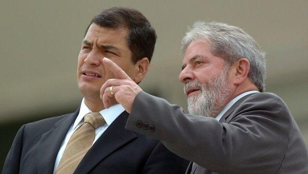Lula denuncia judicialización política contra Rafael Correa