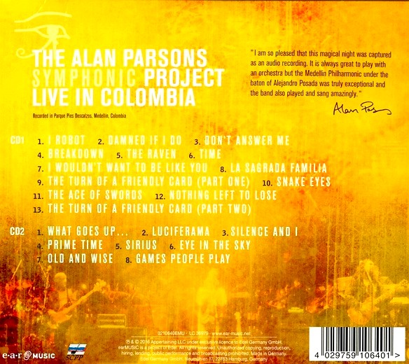 alan parsons live project A british progressive rock band, formed in 1975 by sound engineer/producer/musician alan parsons and singer/songwriter/producer eric woolfson, additionally involving several other musicians who took part on the project's recordings through the years.