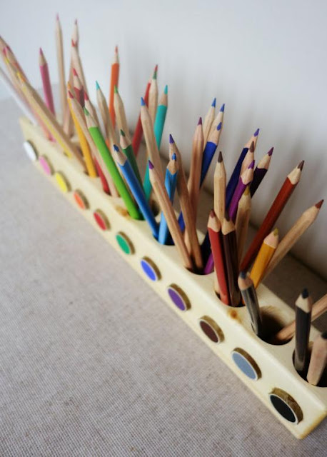 Montessori Wood Pencil Holder