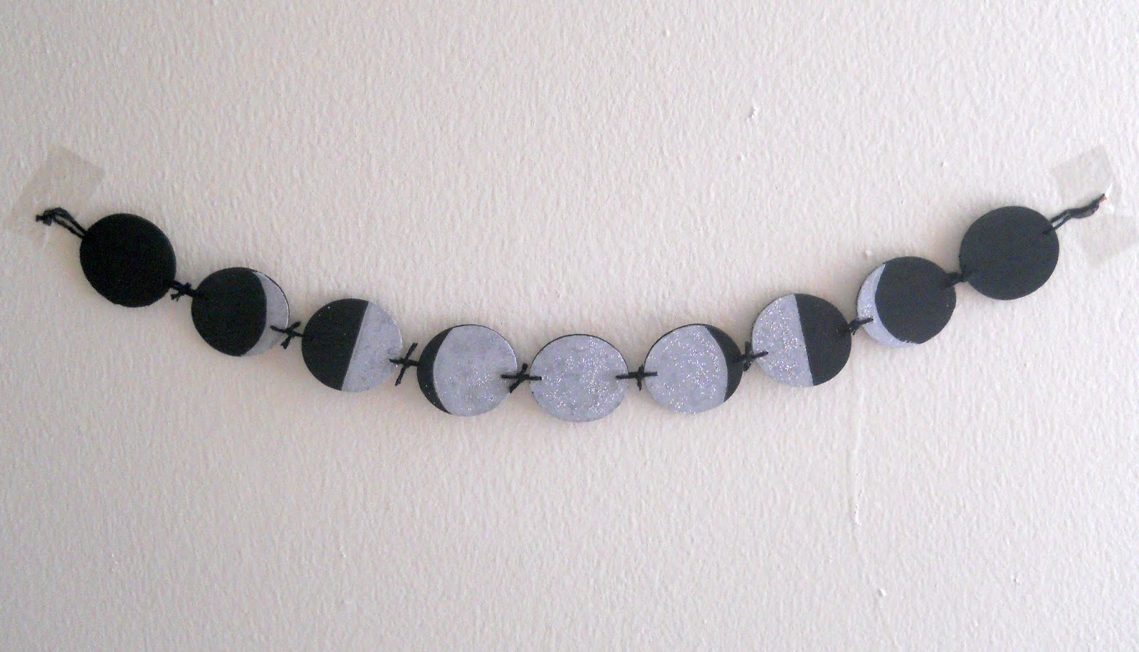 Running With A Glue Gun Phases Of The Moon Mini Banner Diy