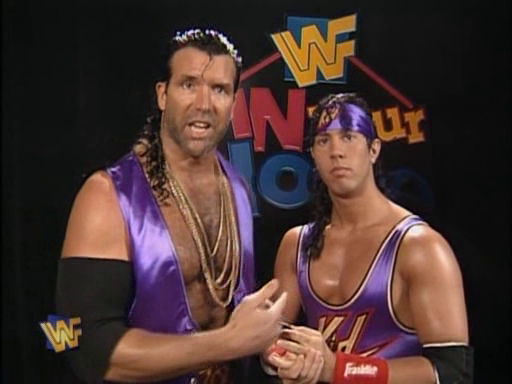 WWF / WWE - In Your House 4 - Great White North - Razor Ramon and 123 Kid challenged The Smoking Gunns for the tag titles