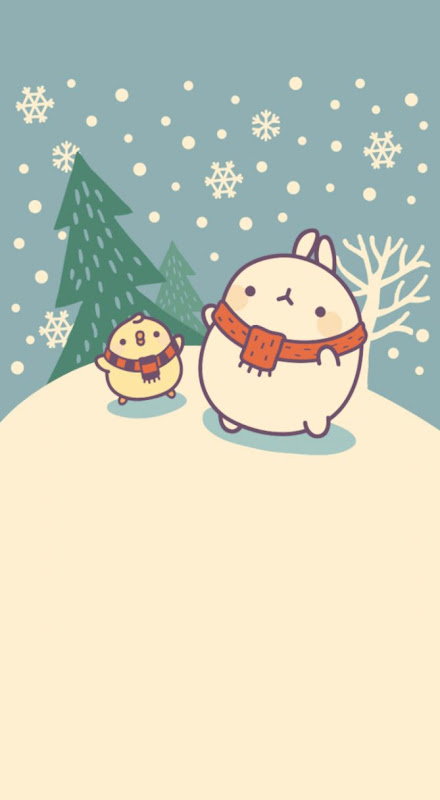 Molang Christmas wallpaper Kawaii Pinterest Kawaii Pantalla