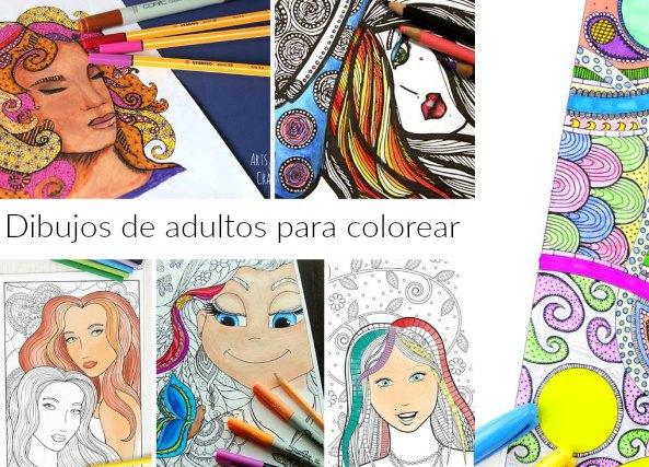 dibujos de adultos para colorear, relajación coloreado, manualidades
