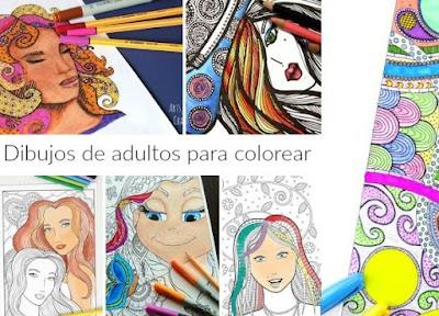 Dibujos de adultos para colorear y relajarnos