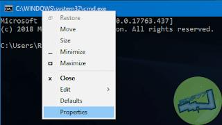 Open Kustomisasi Command Prompt Di Windows