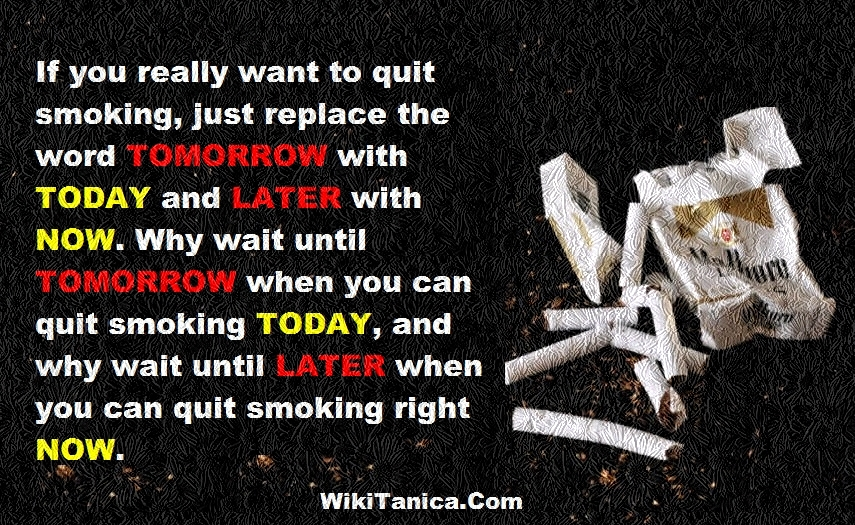 quitting cigarettes A fact sheet that lists some of the cancer-causing chemicals in tobacco smoke and describes the health problems caused by cigarette smoking and the benefits of quitting.