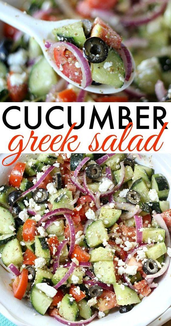 Cucumber Greek Salad Recipes