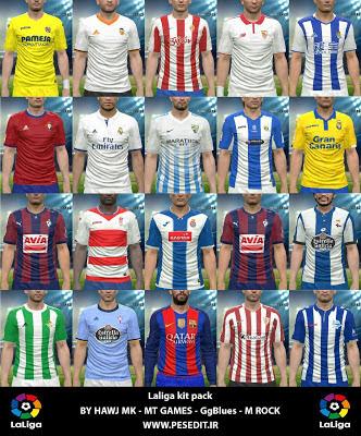 Update PES 2016 La Liga 2017 Full Kits