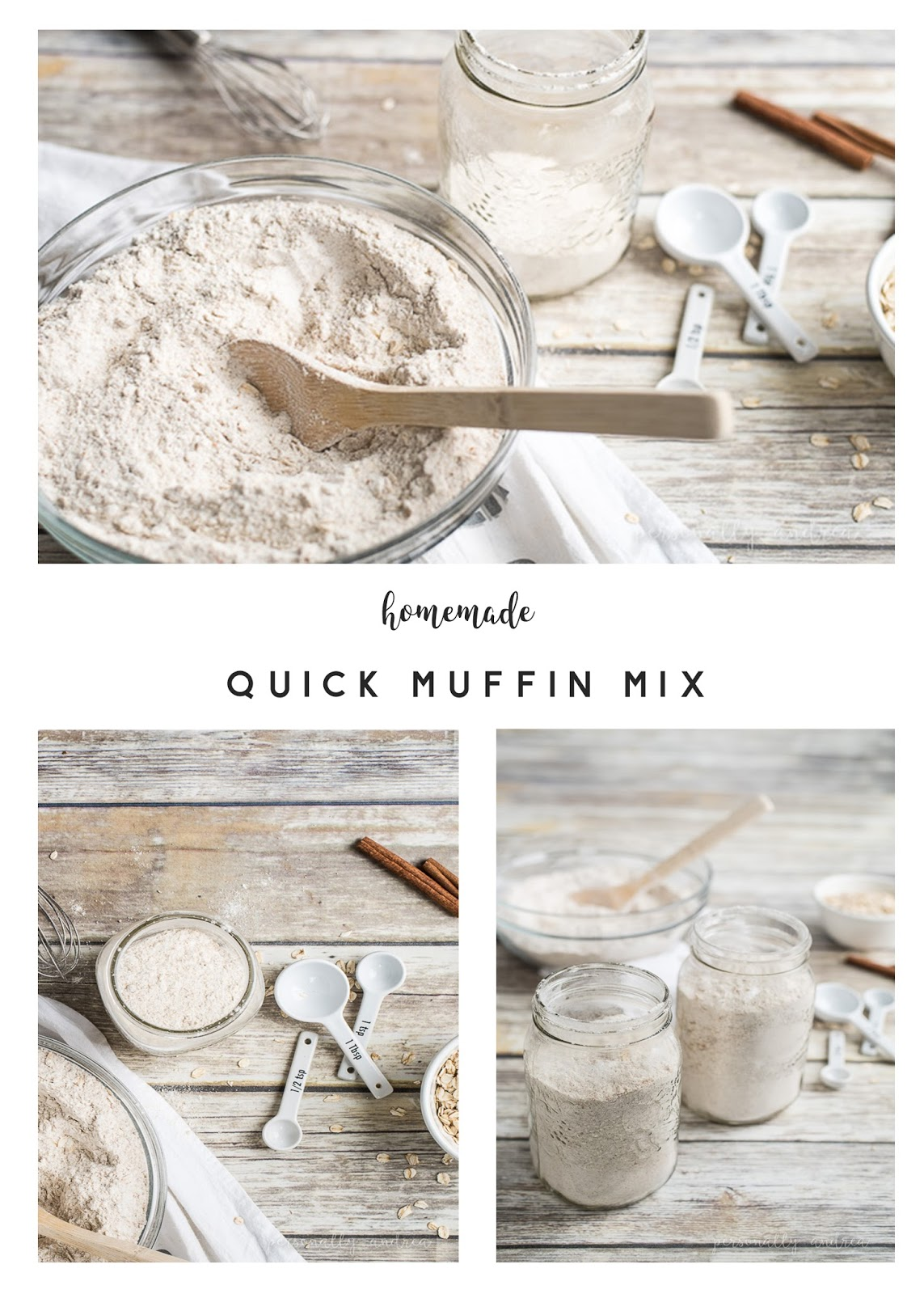 Homemade Quick Muffin Mix Plus Basic Muffin Recipe | personallyandrea.com