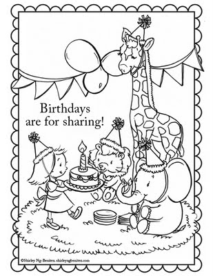 Free birthday card coloring pages ~ Be Different...Act Normal: Free Printable Birthday ...