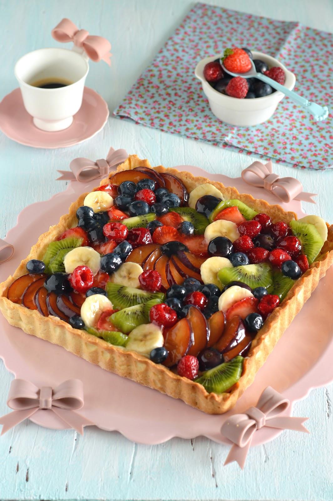 Ricetta Pasta Frolla X Crostata Di Frutta.Sprinkles Dress La Crostata Di Frutta Perfetta Ricetta Pasta Frolla E Crema Pasticcera