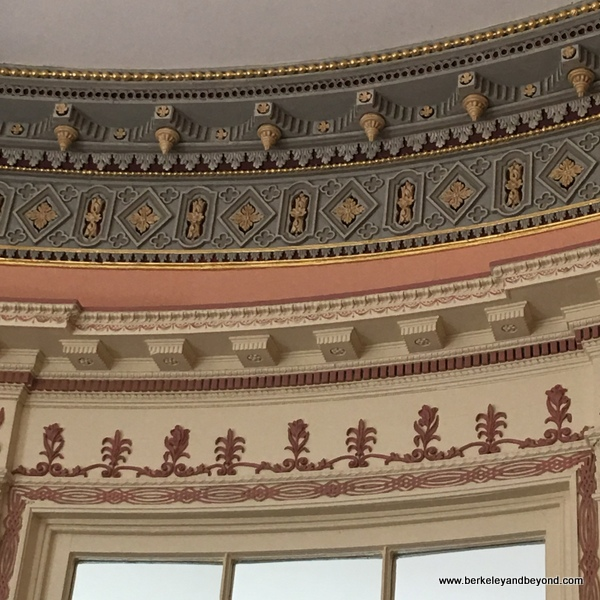 gilded cornices at Nathaniel Russell House Museum in Charleston, South Carolina