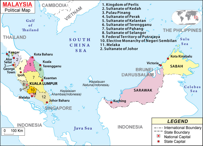 Drawing Malaysia Map