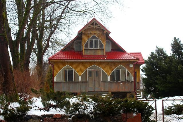 Troki - drewniany dom, dzielnica karaimska