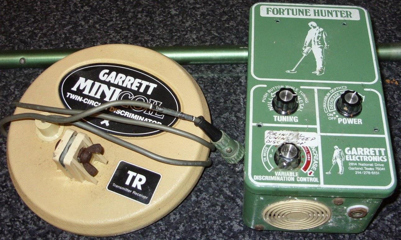 Detector Master Metal Vintage Vlf Hunter Garrett Tr