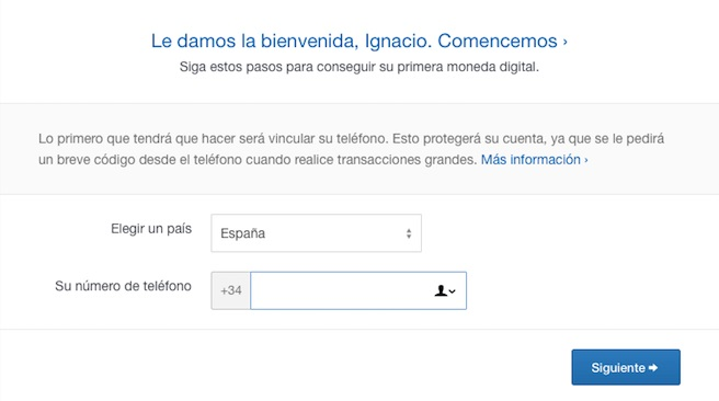 registro coinbase comprar request