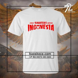 kaos hut ri 72 love indonesia request kata kata istimewa warna putih