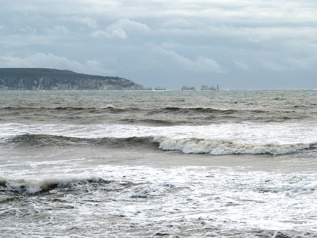 View towards The Needles from Milford on Sea
