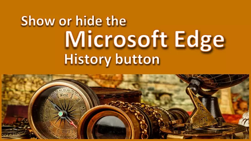 How to show or hide the History button in Microsoft Edge?