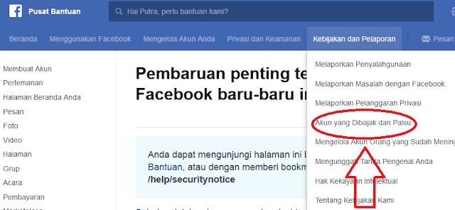 pulihkan akun facebook