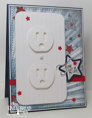 ODBD Patriotic Paper Collection, ODBD The Light of Life, ODBD Custom Sparkling Stars Dies, ODBD Custom Double Stitched Stars Dies, Card Designer Angie Crockett