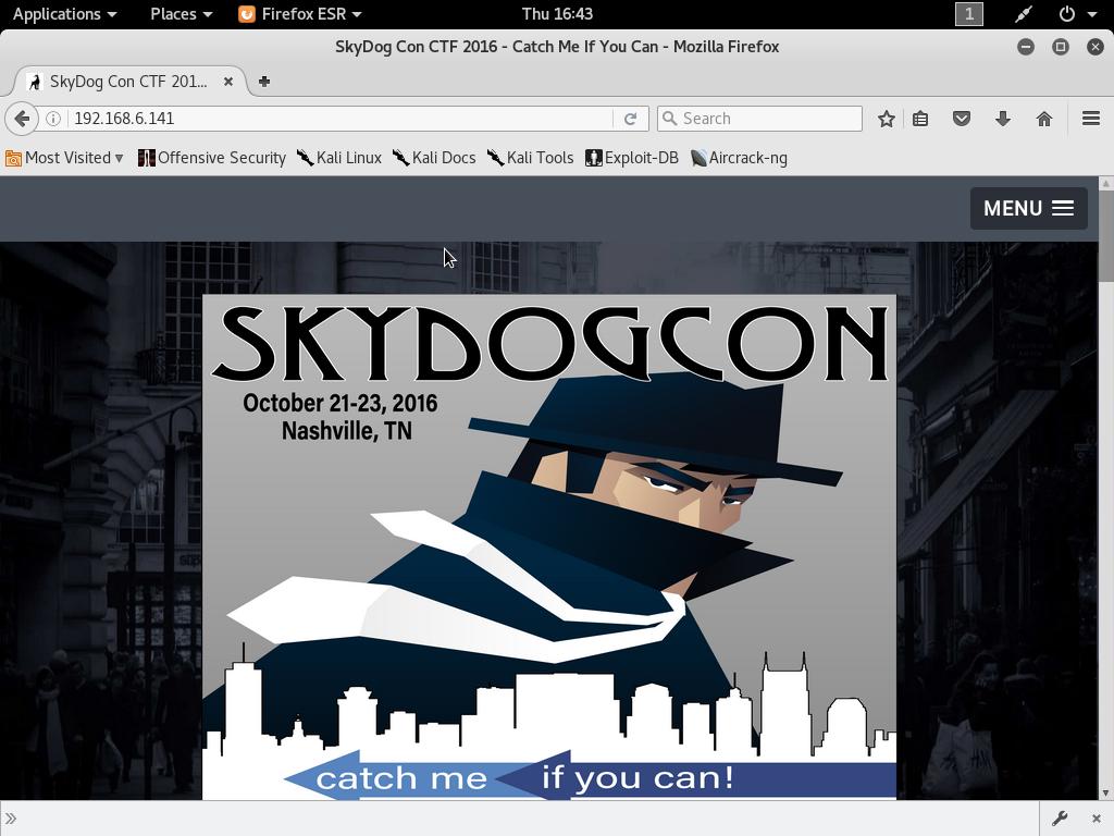 The Professional Hacker Digest: Vulnhub - SkyDogCon CTF 2016 Walkthrough