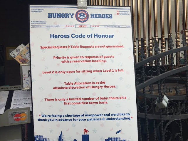 hungry heroes code of honour