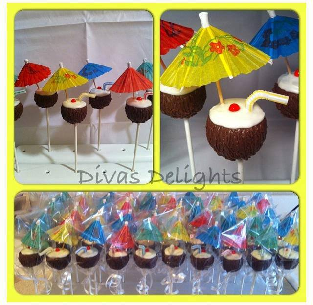 Someone order a Pina Colada Cake Pop? By Diva's Delights