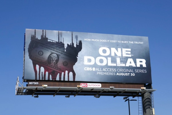 One Dollar series launch billboard