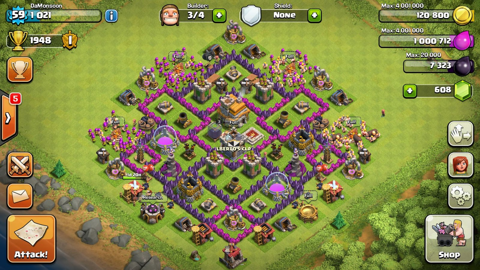 libertarios clash of clans dise os aldea th7