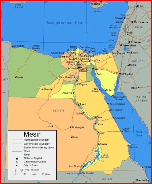 Gambar Peta Mesir