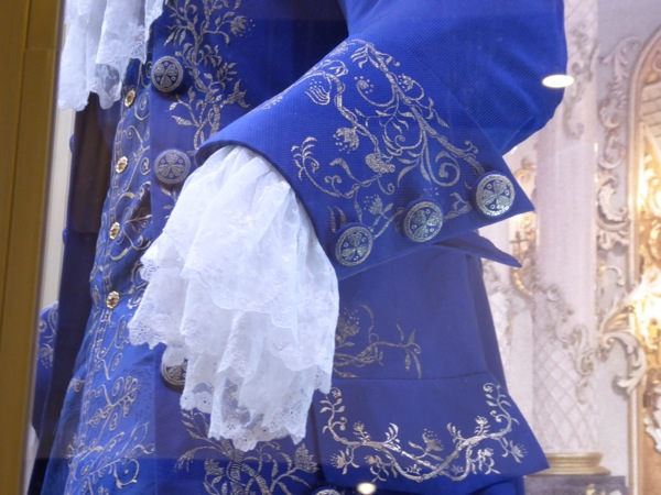 Beauty and the Beast film costume cuff and button detail