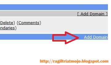 Pilih Add Domain