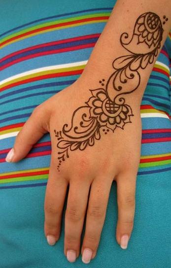 Gambar Mahendi Tangan Simple : gambar, mahendi, tangan, simple, Gambar, Mahendi, Simpel, Corak, Henna, Terkini