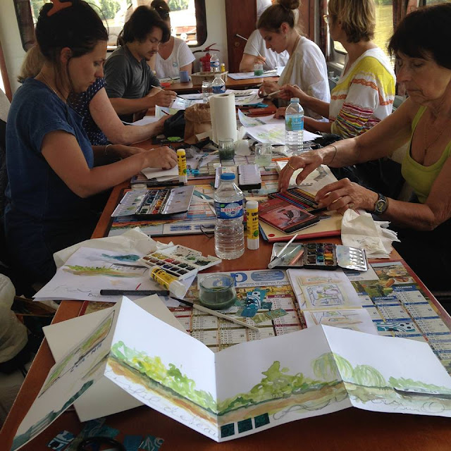 stage atelier workshop masterclass antonia neyrins carnet de voyage carnets croquis peinture dessin aquarelle