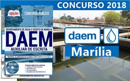 Concurso DAEM Marília SP 2018