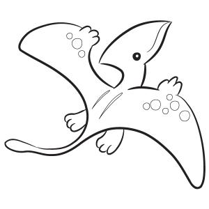 Baby Pterosaurs Dinosaur Coloring Sheet Images