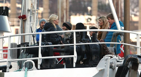 "Together with the Dutch royal couple King Willem-Alexander and Queen Maxima, Crown Prince and Princess went out with the boat ""Vulkana"". summer dress"