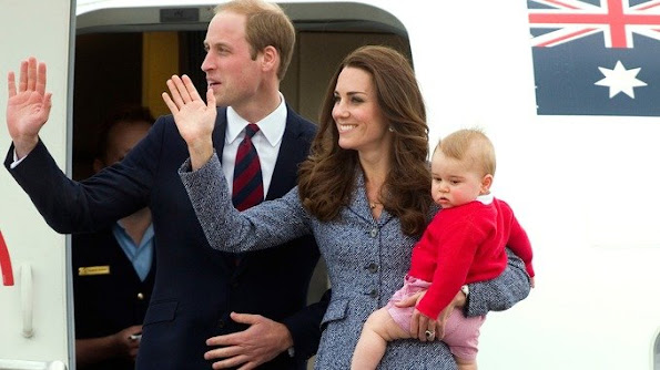Prince George made his first trip overseas in April 2014.