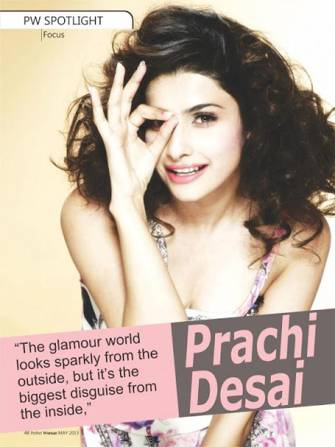 Prachi Desai on the cover of Perfect Woman -May 2013 issue