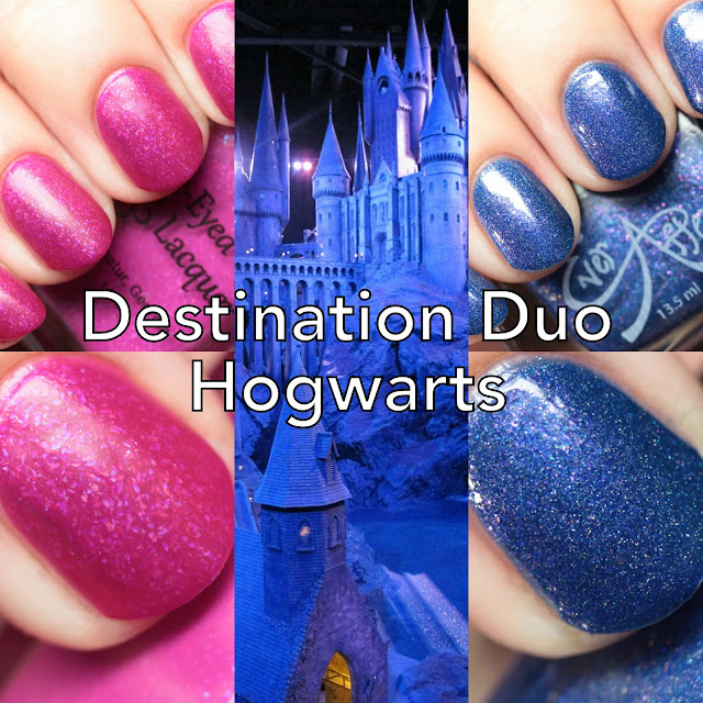 Blue-Eyed Girl Lacquer and Ever After Polish Destination Duo: Hogwarts a History