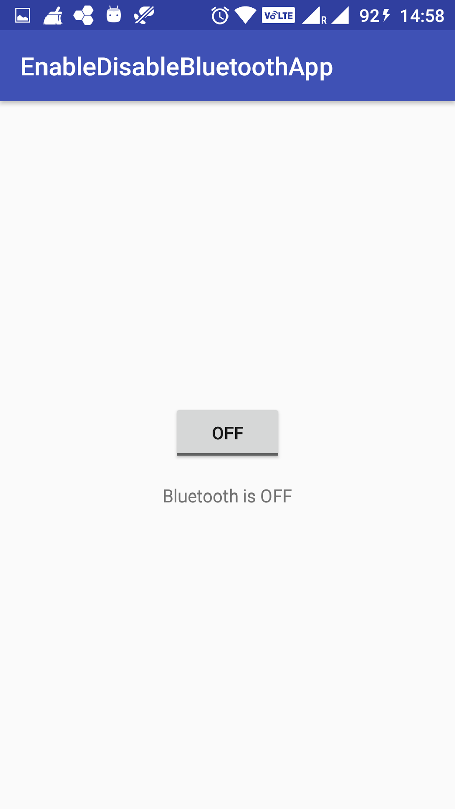 How to enable or disable Bluetooth in android