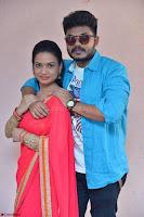 Bhimbika in Red Orange Saree at Sikhandi Movie Launch Spicy Pics 3.jpg