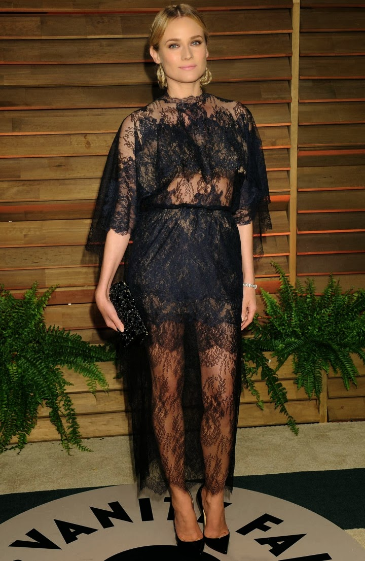 07a2ed92 Diane Kruger in Valentino Couture at the 2014 Vanity Fair Oscars Party