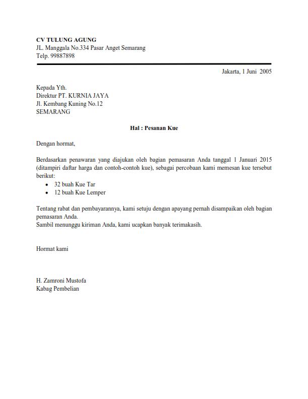 contoh surat dinas semi block style contoh hu