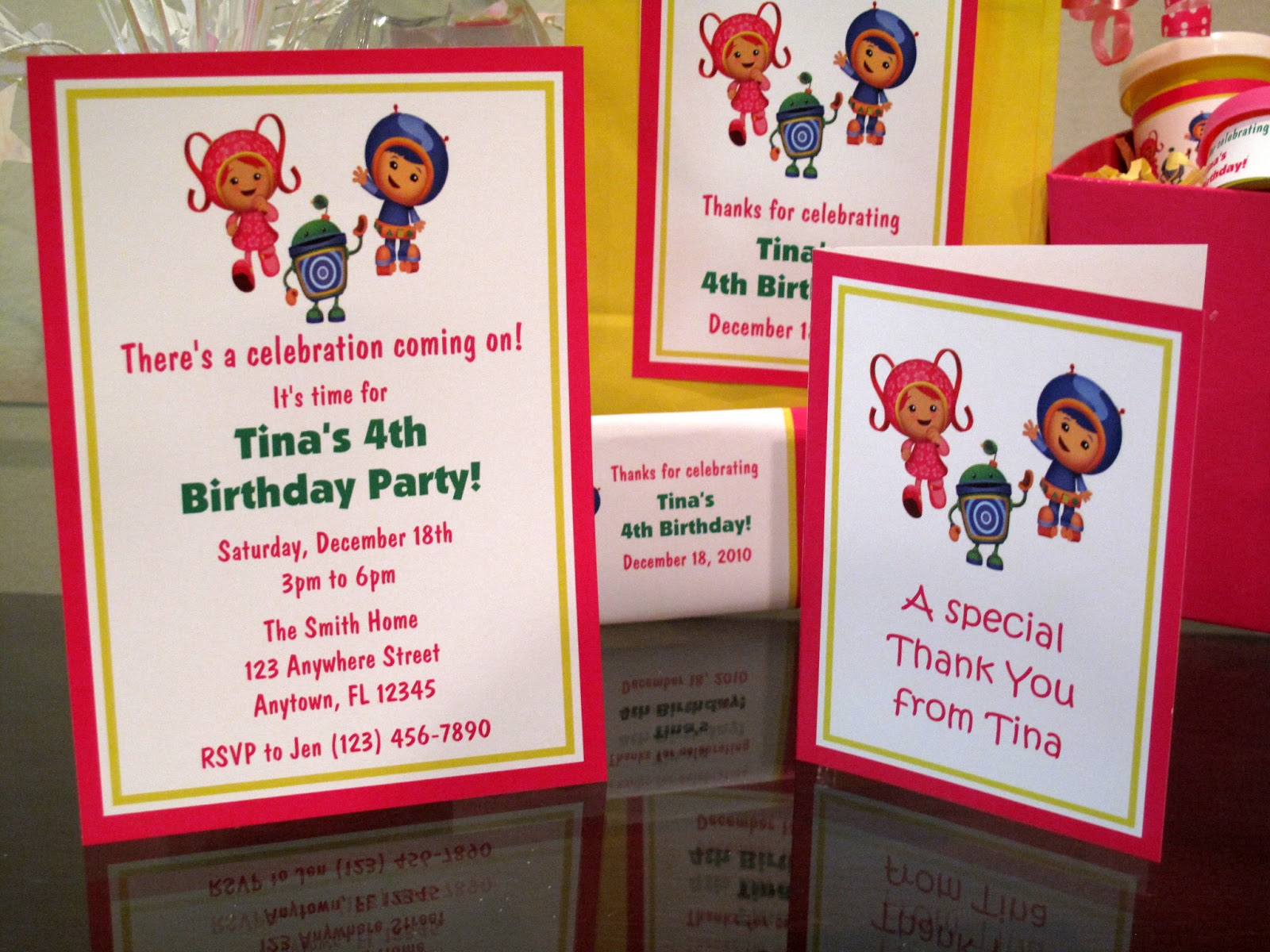 Team Umizoomi Girl Invite And Thank You Note