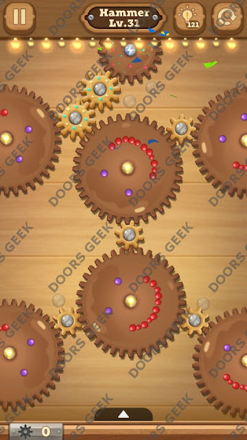 Fix it: Gear Puzzle [Hammer] Level 31 Solution, Cheats, Walkthrough for Android, iPhone, iPad and iPod