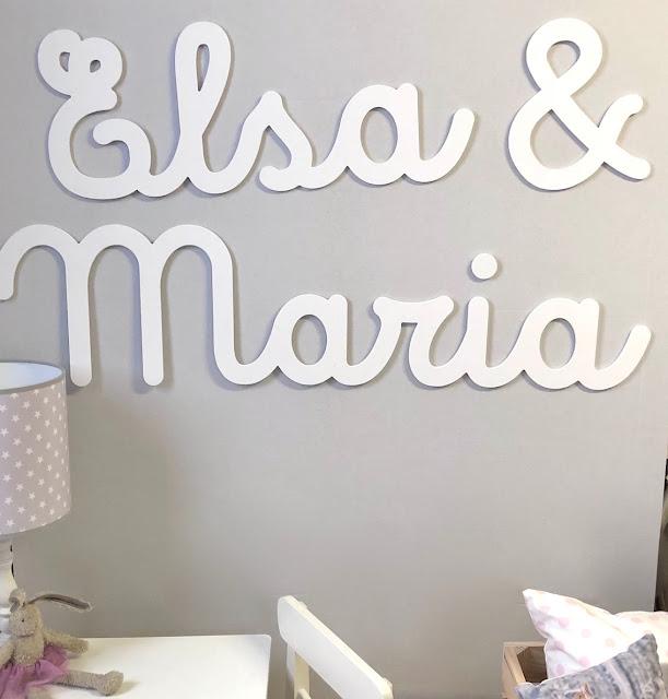 Letras y nombres infantiles para decorar